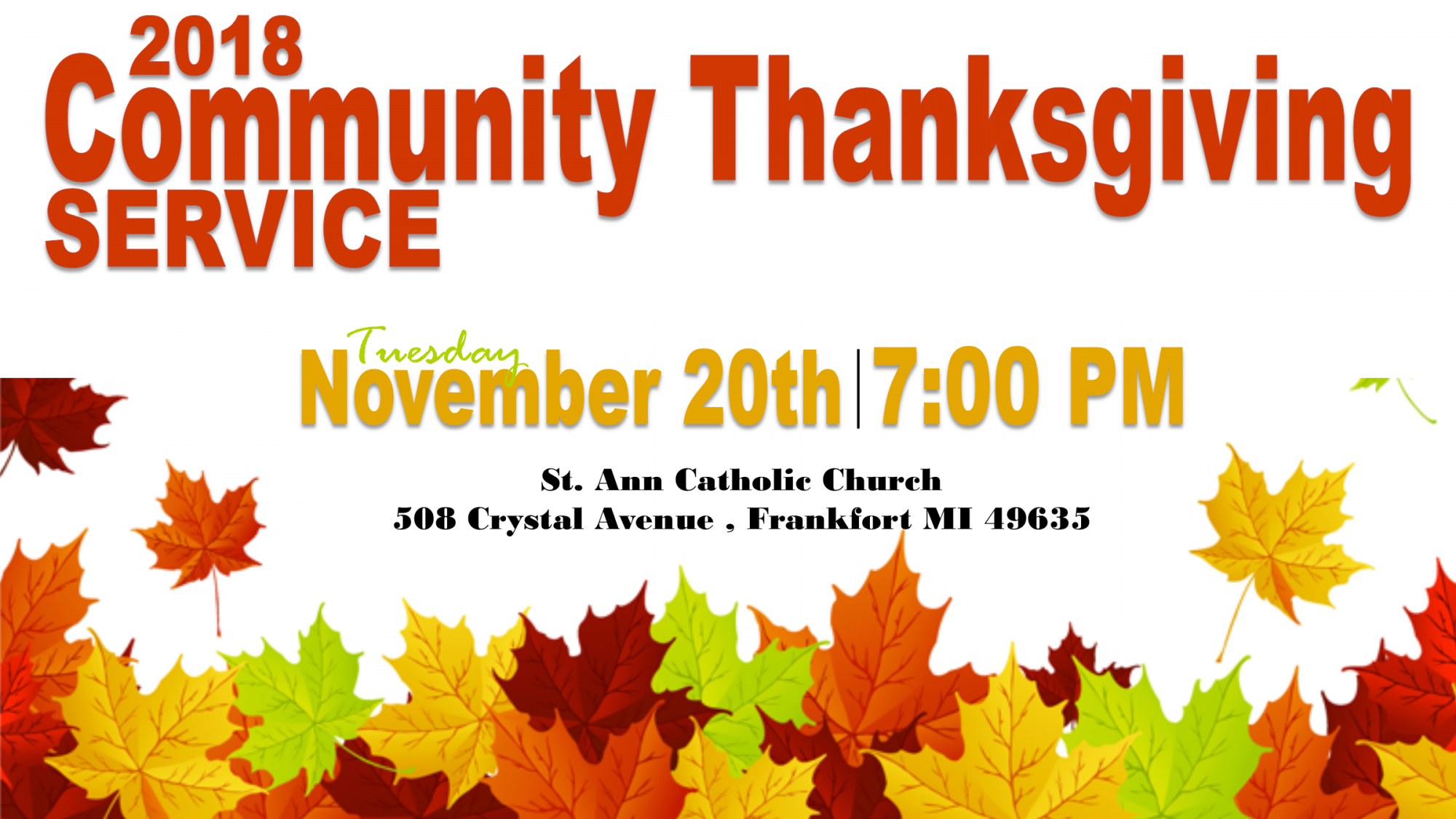 2018 Community Thanksgiving Banner
