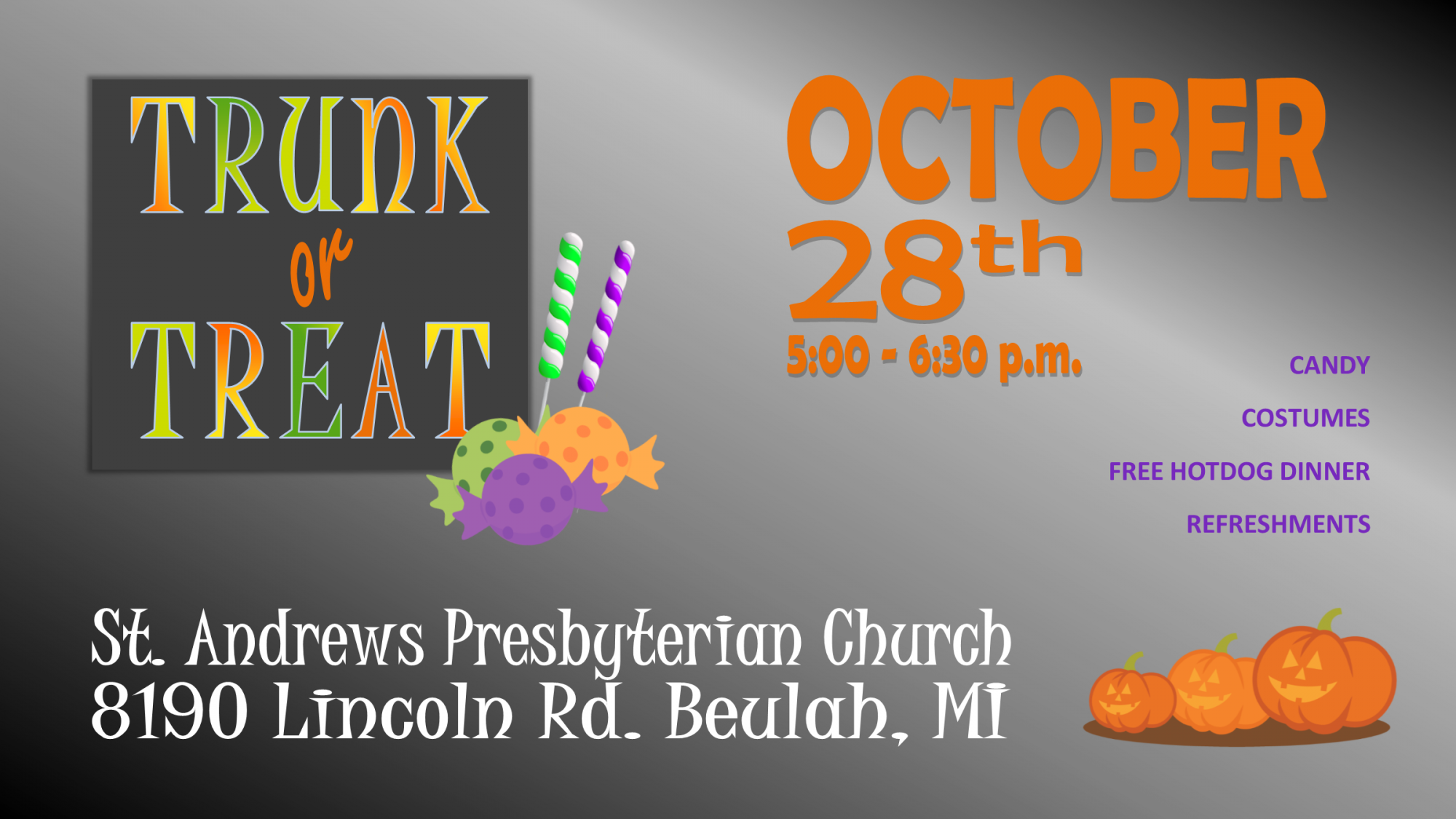 2018 Trunk or Treat FB Event Photo